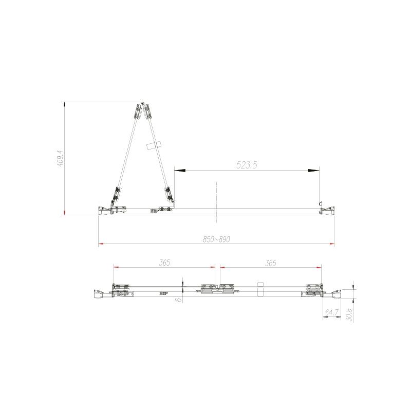 Aquadart Venturi 6 Frameless Bifold Shower Door 900mm
