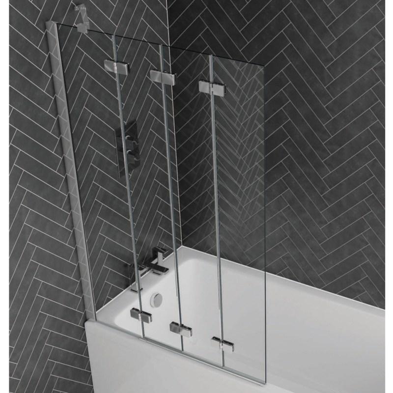 Aquadart Venturi 6 Frameless 4 Fold Bath Screen Left Hand