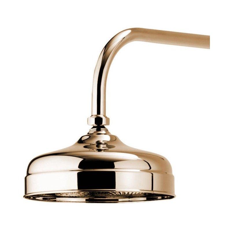 """Aqualisa Aquatique Fixed Shower Head 8""""' Gold"""