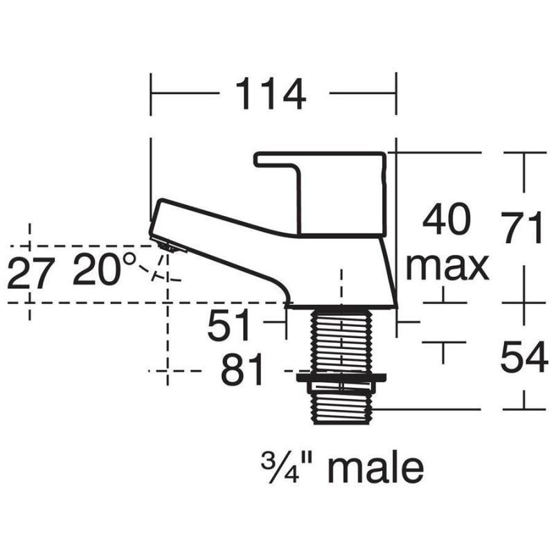 Armitage Shanks Sandringham 21 Bath Pillar Taps B3305