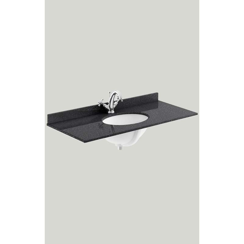 Bayswater 1000mm Single Bowl 1 Hole Black Marble Top