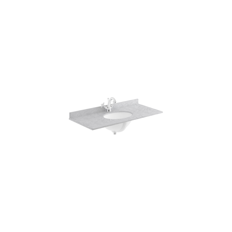 Bayswater 1000mm Single Bowl 1 Hole Grey Marble Top