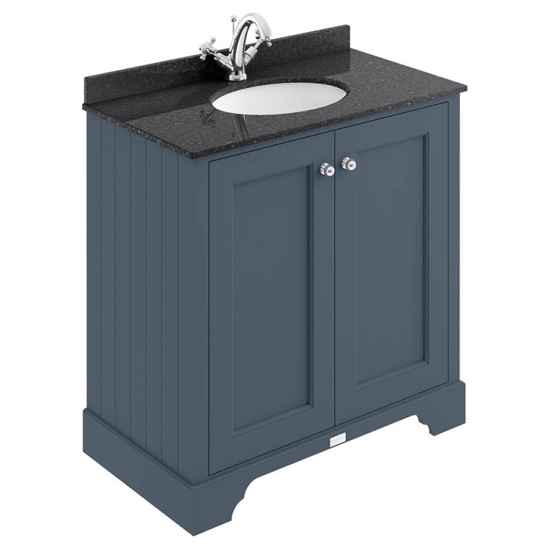 Bayswater Stiffkey Blue 800mm 2 Door Basin Cabinet