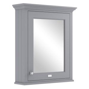Bayswater Plummett Grey 600mm Mirror Wall Cabinet
