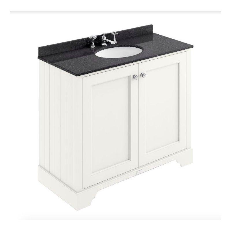 Bayswater 1000mm 2 Door Basin Cabinet White
