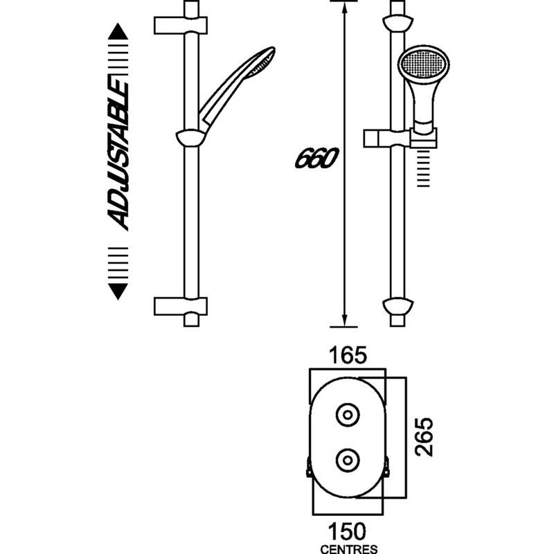 Bristan Artisan Recessed Thermostatic Shower Valve with Kit