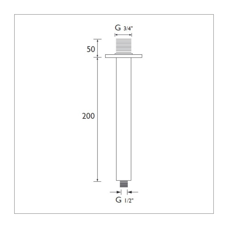 Bristan Ceiling Fed Shower Arm Round 200mm