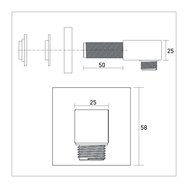 Bristan Shower Wall Outlet Square