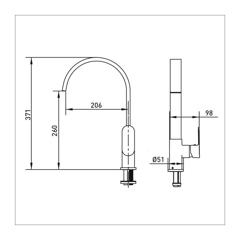 Bristan Cherry Easyfit Sink Mixer Brushed Nickel