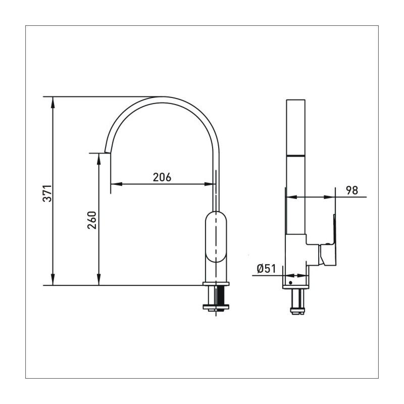 Bristan Cherry Easy Fit Monobloc Sink Mixer Chrome