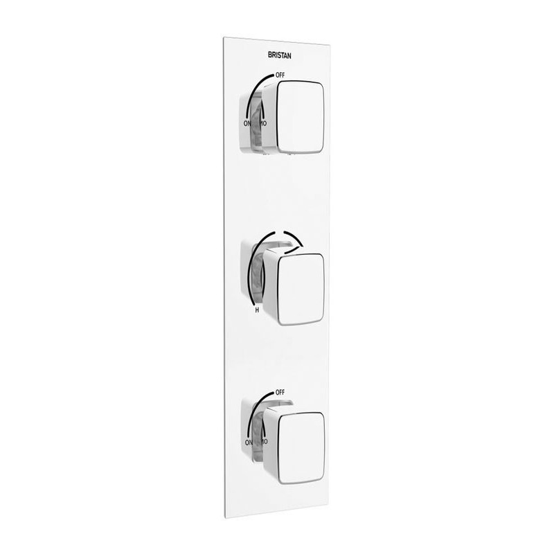 Bristan Cobalt Thermostatic Shower Valve with Twin Stopcocks