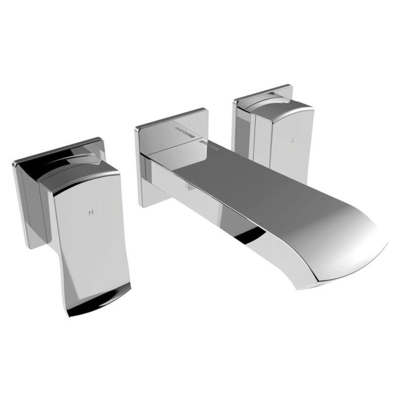 Bristan Descent Wall Mounted Bath Filler Chrome