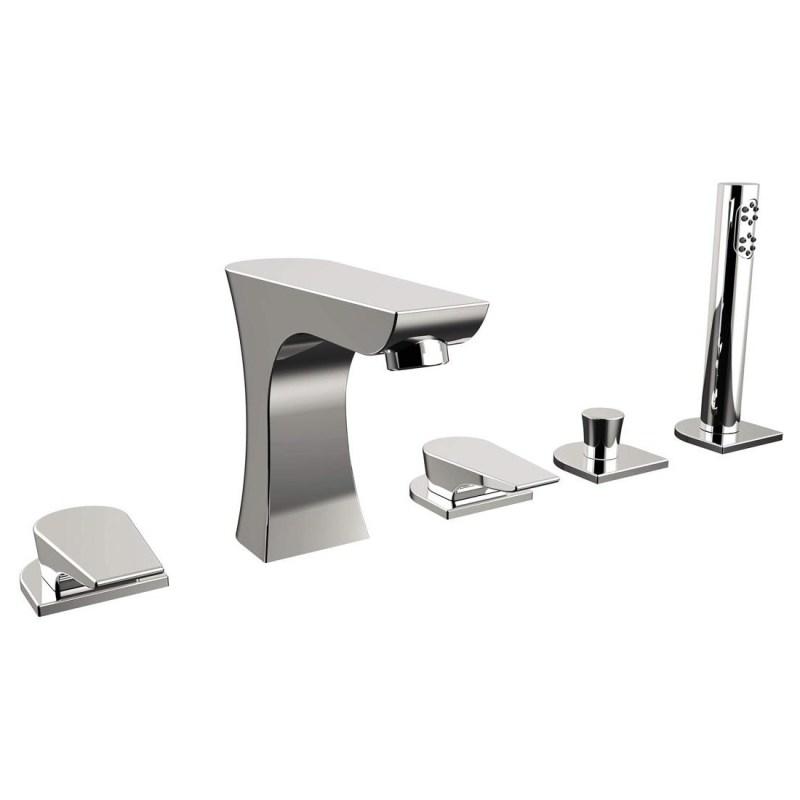 Bristan Hourglass 5 Hole Bath Shower Mixer Chrome