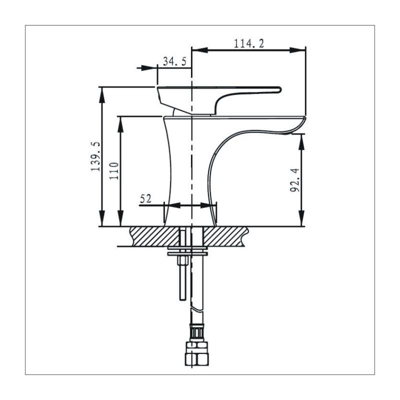 Bristan Hourglass Basin Mixer Chrome