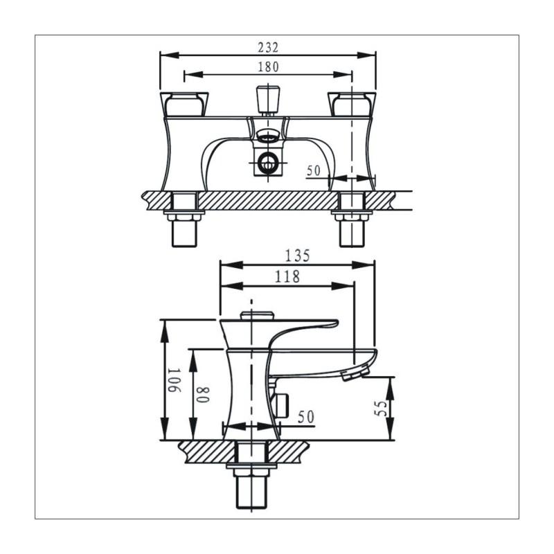 Bristan Hourglass Bath Shower Mixer Chrome