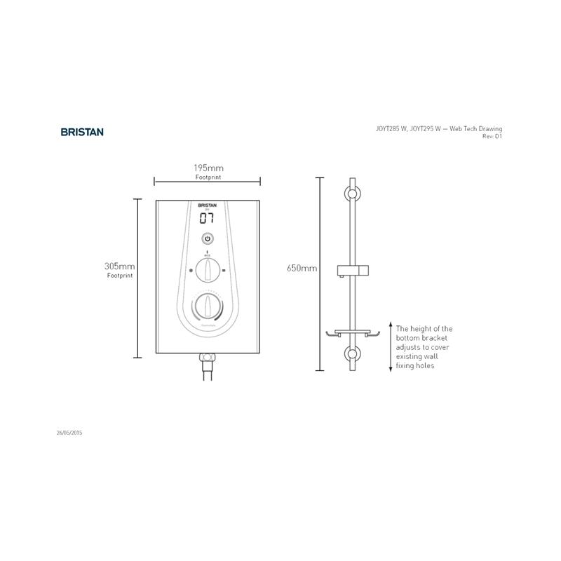 Bristan Joy Thermostatic 8.5kW Electric Shower White