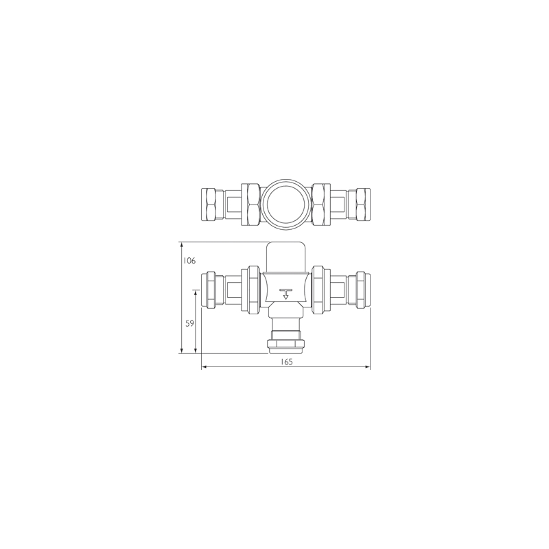 Bristan Gummers 22mm Thermostatic Mixing Valve