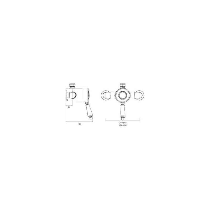 Bristan 1901 Exposed Sequential Top Outlet Shower Valve