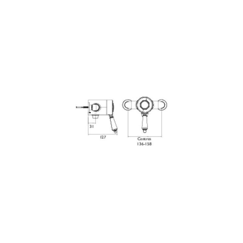 Bristan 1901 Exposed Sequential Shower Valve Chrome