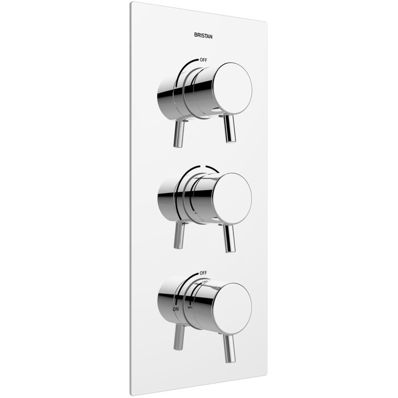 Bristan Prism Recessed Thermostatic Shower Valve with Stopcocks