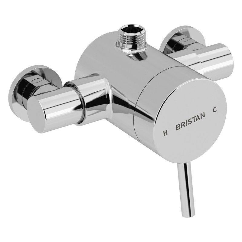 Bristan Prism Thermostatic Exposed Shower Valve Top Outlet