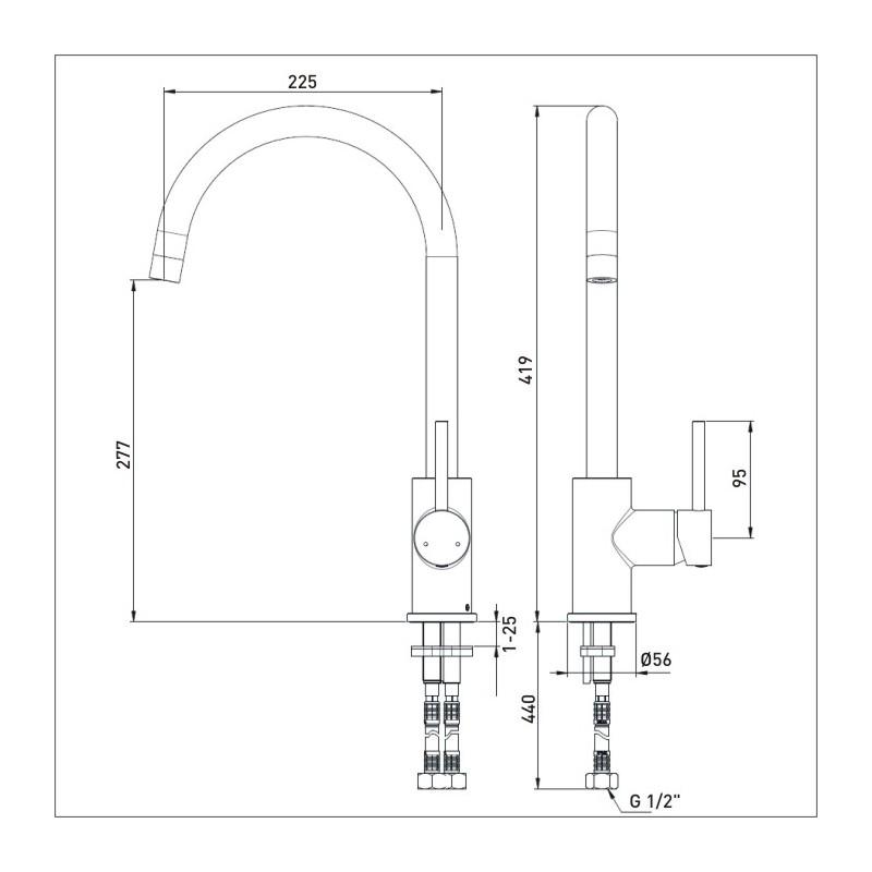 Bristan Pistachio Easy Fit Monobloc Sink Mixer Chrome