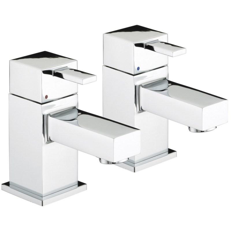 Bristan Quadrato Basin Taps 6 Litre per Minute Flow