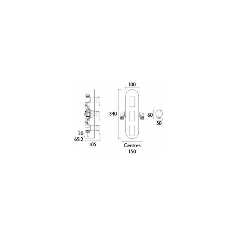 Bristan Sail Dual Control Shower Valve with Twin Stopcocks