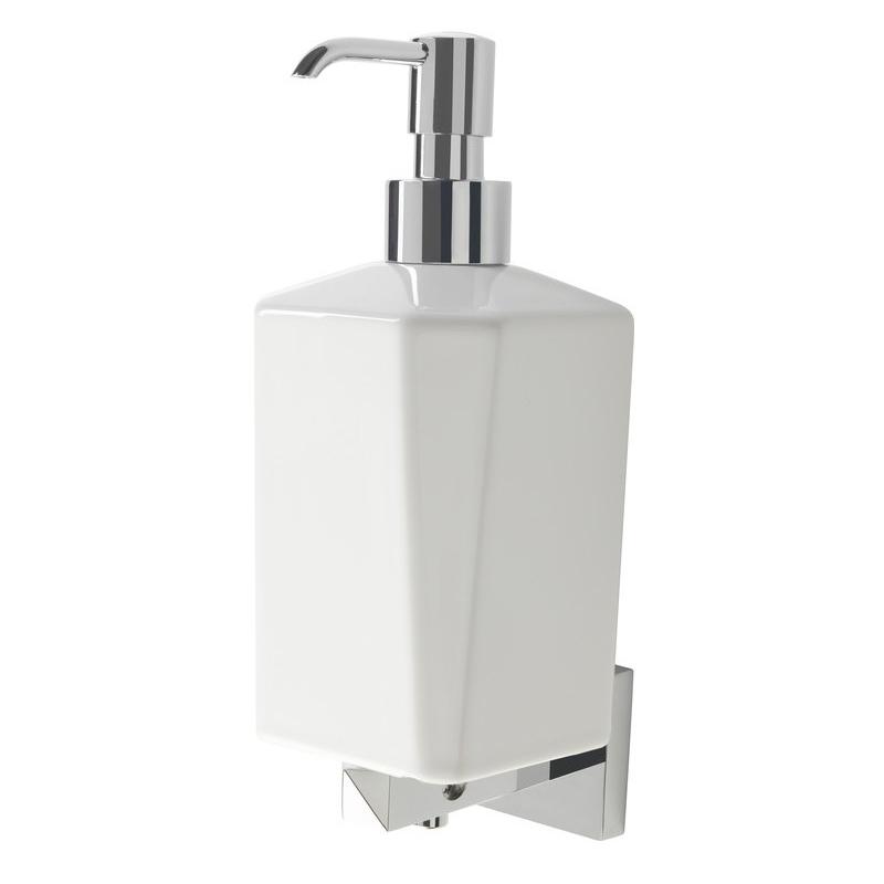 Bathrooms To Love Vitti Wall Soap Dispenser Chrome & White