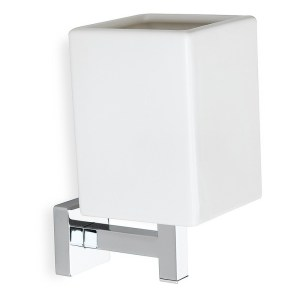 Bathrooms To Love Lissi Wall Mounted Tumbler Chrome & White