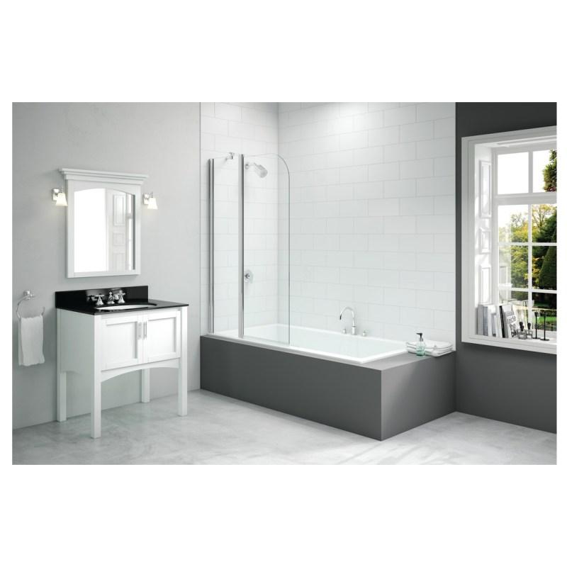 Merlyn 900x1500mm 2-Panel Curved Folding Bath Screen