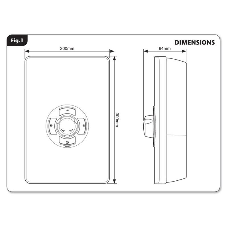 Triton Aspirante 9.5kW Contemporary Electric Shower White Gloss