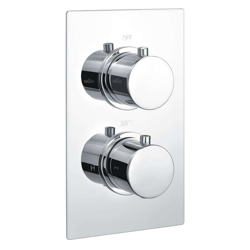 Bathrooms To Love Circa Thermostatic Twin Shower Valve 1 Outlet