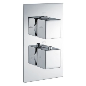 Bathrooms To Love Kuba Thermostatic 2 Outlet Twin Shower Valve