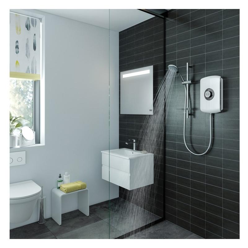 Triton Amore Electric Shower 9.5kW Black Gloss