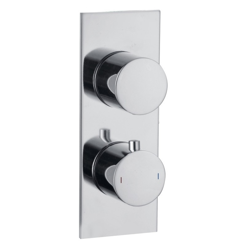 Bathrooms To Love Sphere 1 Outlet Slim Plate Twin Shower Valve
