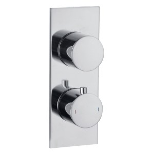 Bathrooms To Love Sphere 2 Outlet Slim Plate Twin Shower Valve