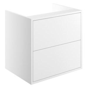 Bathrooms To Love Perla 600mm 2 Drawer Wall Vanity Unit Matt White