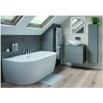 Bathrooms To Love Perla 600mm 2 Drawer Wall Vanity Unit Matt Grey