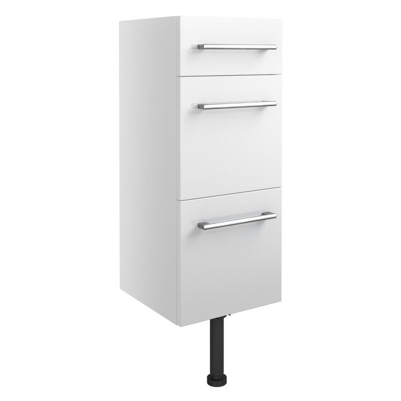 Bathrooms To Love Alba 300mm 3 Drawer Unit White Gloss
