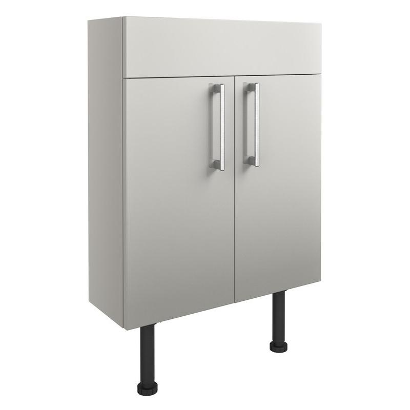 Bathrooms To Love Alba 600mm Slim Vanity Unit Light Grey Gloss