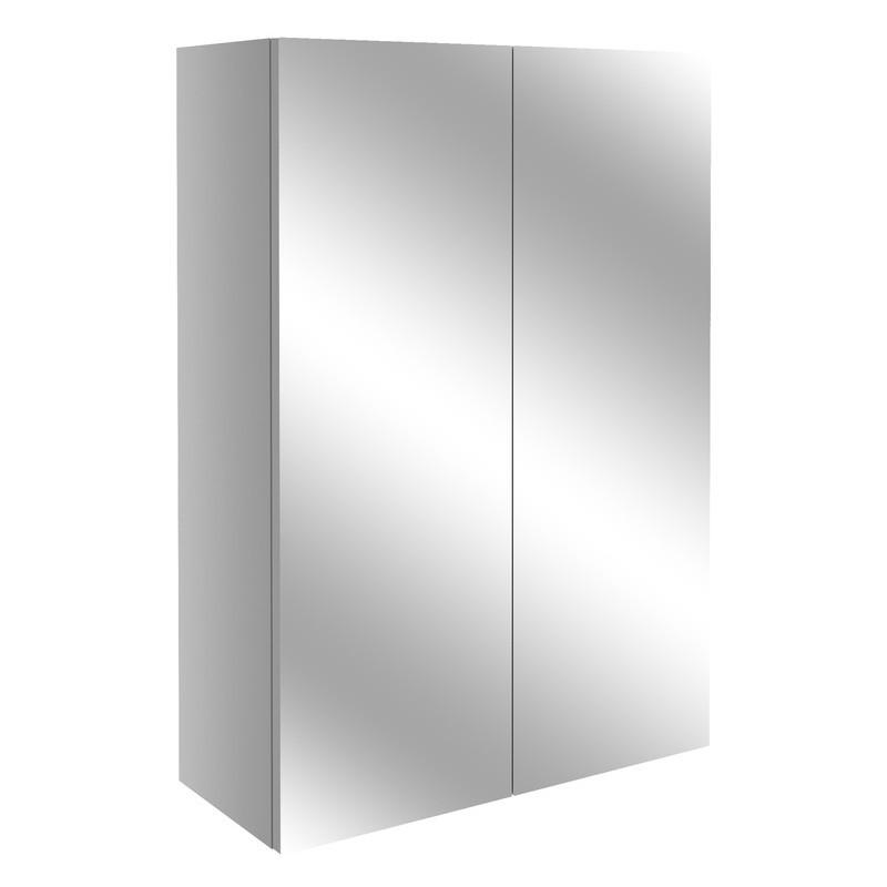 Bathrooms To Love Alba 500mm Mirrored Unit Light Grey Gloss