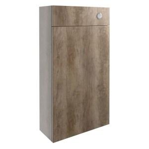 Bathrooms To Love Alba 500mm Slim WC Unit Grey Nebraska Oak