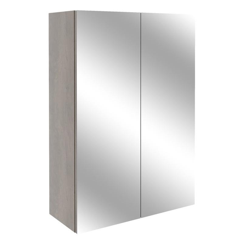 Bathrooms To Love Alba 500mm Mirrored Unit Grey Nebraska Oak