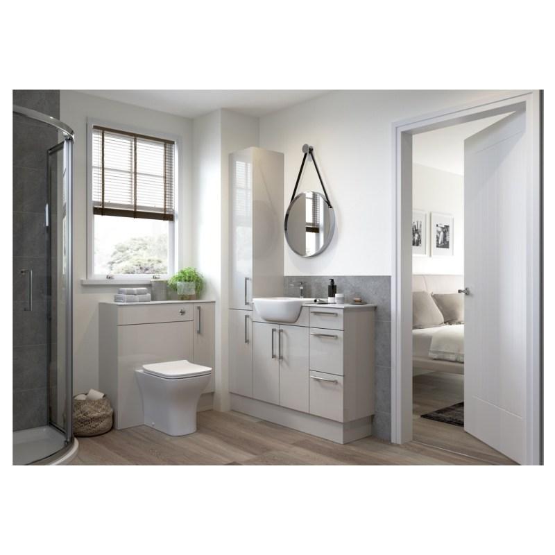 Bathrooms To Love Alba 900x330mm Base End Panel Light Grey
