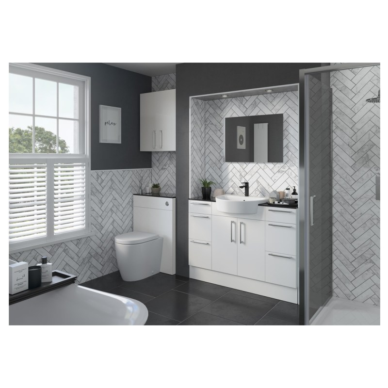 Bathrooms To Love Alba 2200x330mm Tall End Panel White