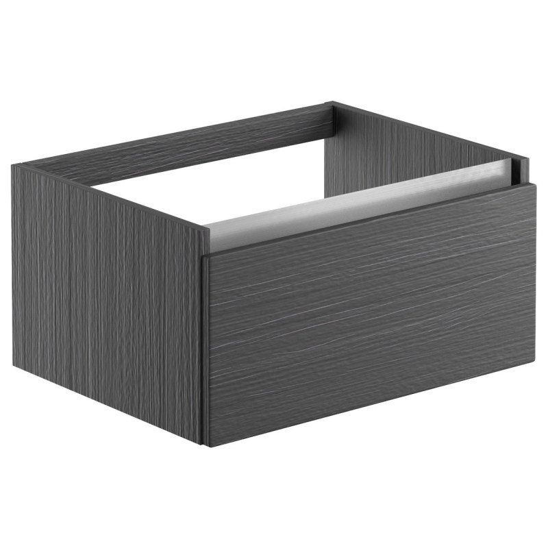 Bathrooms To Love Carino 600mm Wall Hung Basin Unit Graphitewood