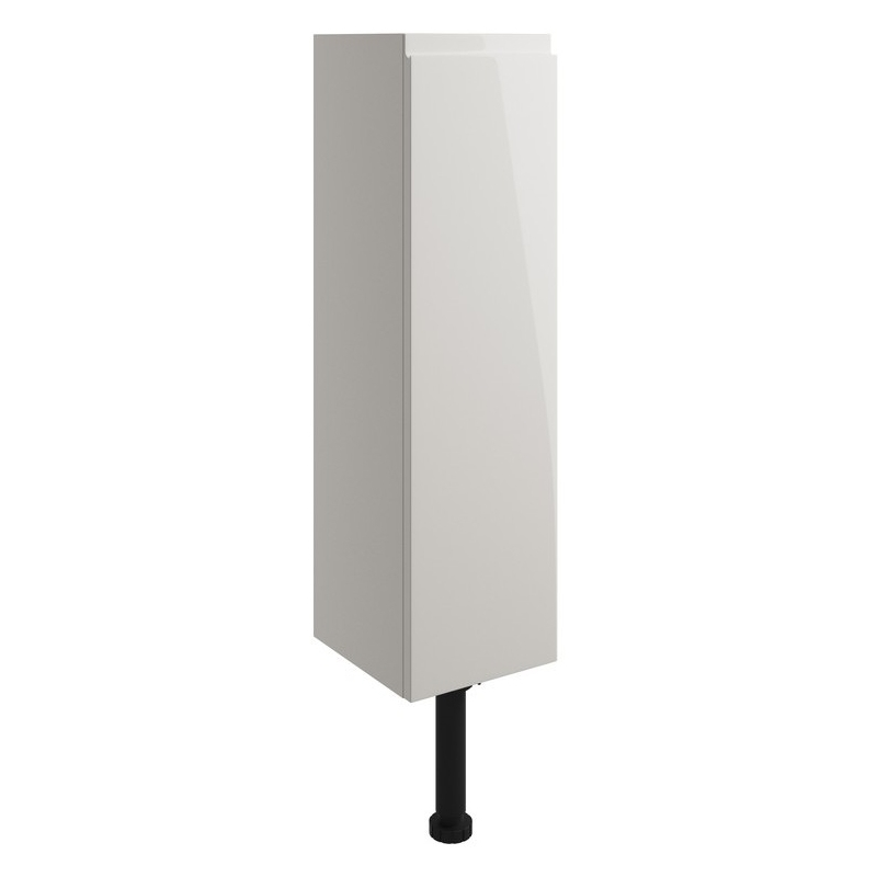 Bathrooms To Love Valesso 200mm Slim Base Unit Pearl Grey Gloss