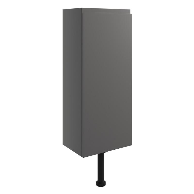 Bathrooms To Love Valesso 300mm Slim Base Unit Onyx Grey Gloss