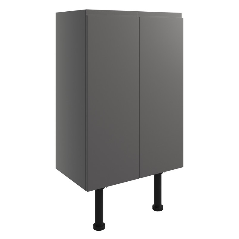 Bathrooms To Love Valesso 500mm Base Unit Onyx Grey Gloss